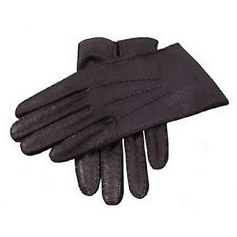 Dents Handsewn Unlined Peccary Gloves - Black