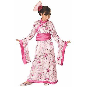 حلي الأميرة الآسيوية مولان الوردي كيمونو الراقصة اليابانية كتاب الأسبوع البنات
