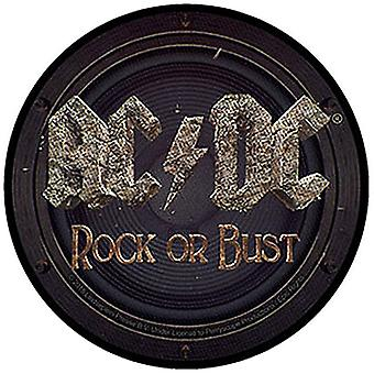 Ac/Dc Rock Or Bust Sew-On Cloth Patch