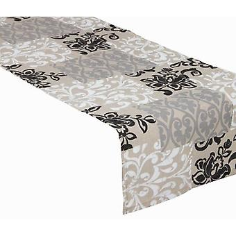 Bigbuy Road gray damask table by Loomin Bloom (Textile , Table textiles)