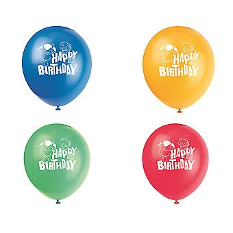 SALE - 8 Helium Quality Assorted Farm Friends Printed Balloons