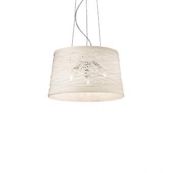 Ideal Lux Basket 3 Bulb Pendant Light Panna