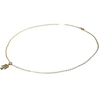 Ladies - necklace - pendants - Angels - guardian angel - 925 Silver - gold plated - 1.3 cm