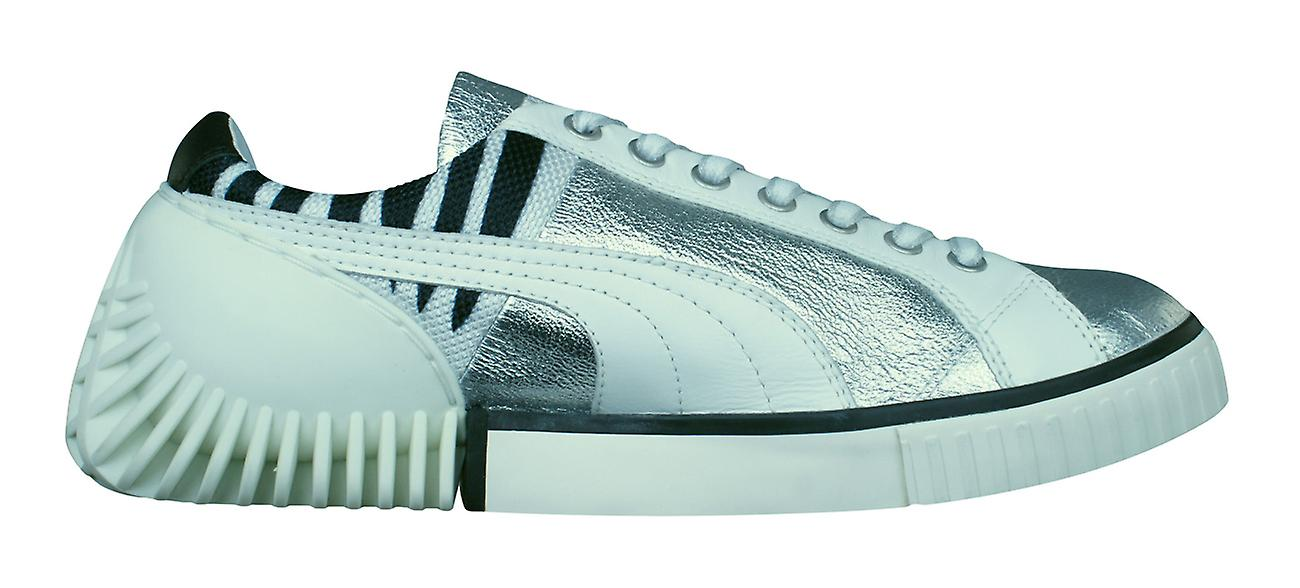467b6d378408bc Puma Mihara Yasuhiro MY 46 Mens Leather Trainers   Shoes - White and Silver