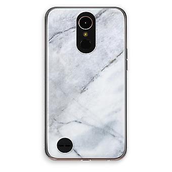 LG K10 (2017) gennemsigtig sag (Soft) - marmor hvid