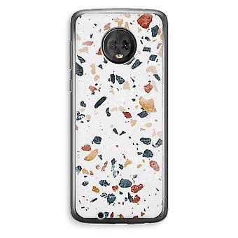 Motorola Moto G6 Plus Transparent Case (Soft) - Terrazzo N°4