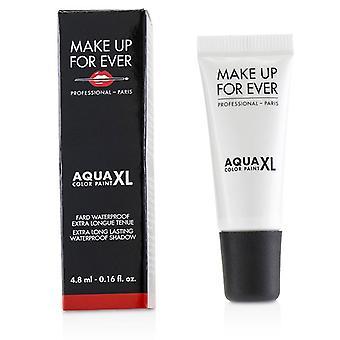 Make Up For Ever Aqua XL Color Paint Waterproof Shadow - # L-14 Lustrous White - 4.8ml/0.16oz