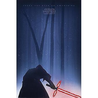 Star Wars Episode 7 poster Kylo ren awakening