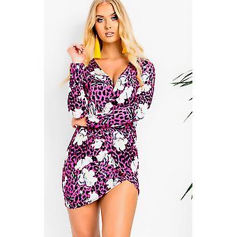 IKRUSH Womens Lexy Long Sleeve Wrap Dress