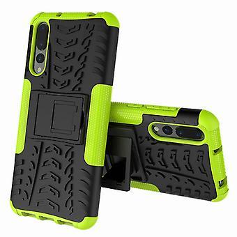 Per Huawei P smart plus / caso di Nova 3i ibrido 2 pezzo SWL all'aperto verde tasca manica copertura di protezione