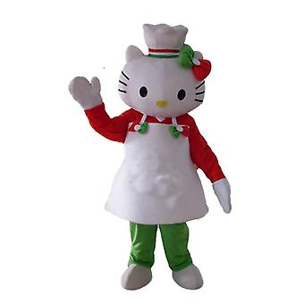 SPOTSOUND Hello Kitty mascot, with an apron and a chef's hat