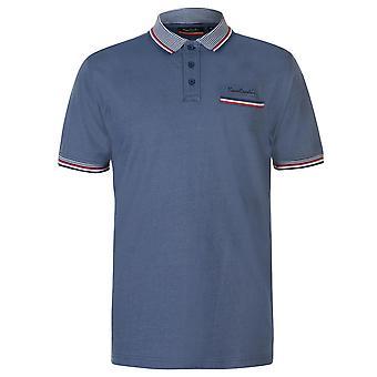 Pierre Cardin heren getipt Pocket Polo Shirt klassieke Fit Tee bovenste knop Placket