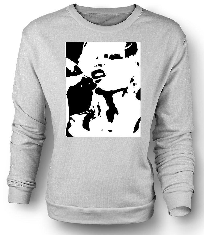 Mens Sweatshirt Blondie - retrò musica BW