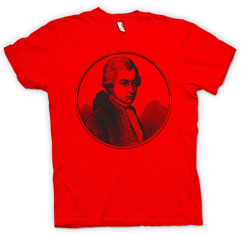 Herr T-shirt-Wolfgang Amadeus Mozart