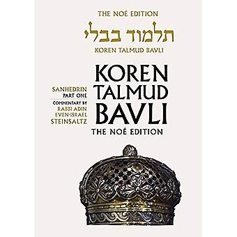 Koren Talmud Bavli Noe Edition: Volume 29: Sanhedrin Part 1, Hebrew/English, Color Edition