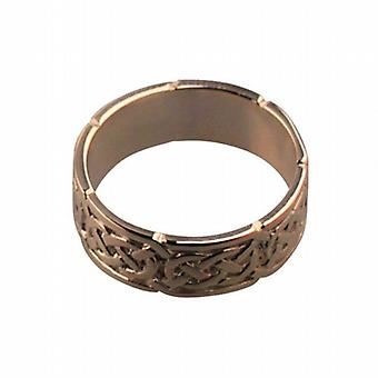 9ct Rose goud 6mm Keltische trouwring grootte H