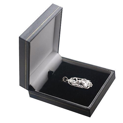 Silver 33x17mm Aries Zodiac Pendant