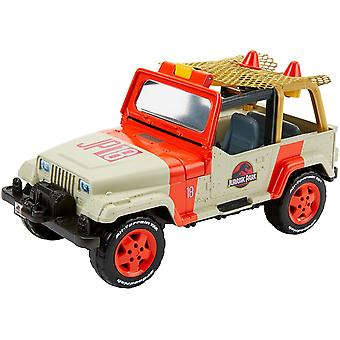 Match Box FNP46 Jurassic World Jeep Wrangler And Net Trapper