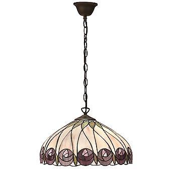 Hutchinson moyenne Style Tiffany un plafond lumineux pendentif - Interiors 1900 64176