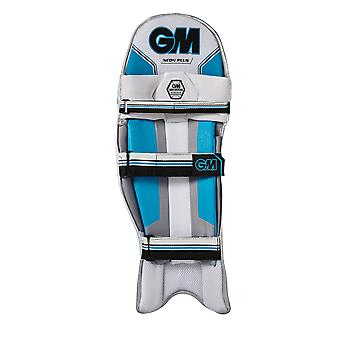 Gunn & Moore 2018 néon Plus Cricket au bâton Pads Leg Guards blanc/bleu