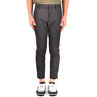 Paolo Pecora Black Cotton Pants