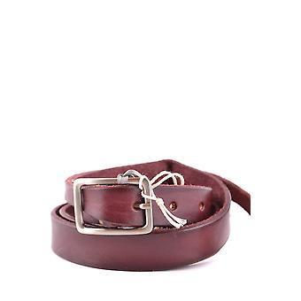 Daniele Alessandrini Burgundy Leather Belt