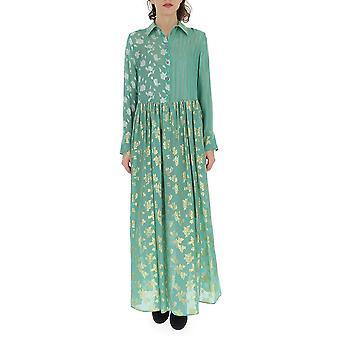 Semi-couture Green Cotton Dress