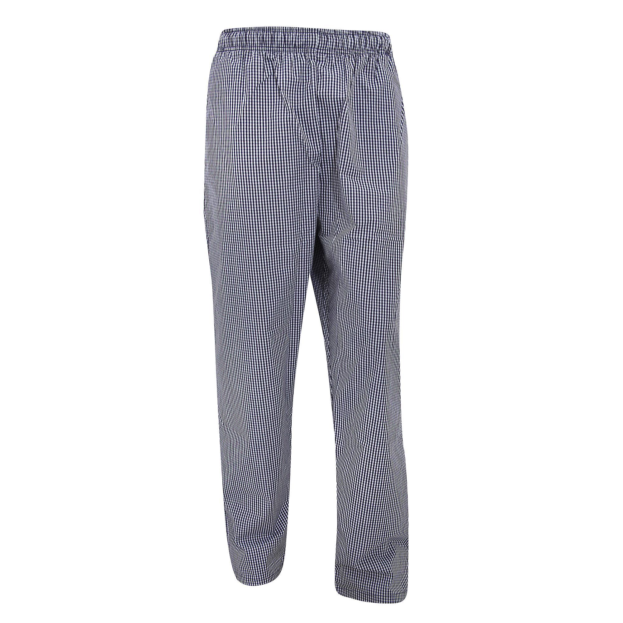 Dennys Unisex Blue/White Check Fully Elasticated Trouser / Chefswear (Pack of 2)