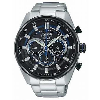 Pulsar Mens WRC Chronograph Solar Stainless Steel PX5019X1 Watch