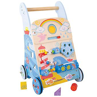 Bigjigs Toys Wooden Marine Activity Walker Learning Stroller Centre Educational