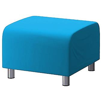 Cotton Replacement Cover for Ikea Klippan Footstool - Turquoise