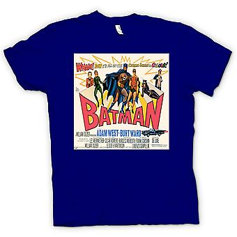 Herren T-Shirt - Batman Adam West - Classic B Film - Poster