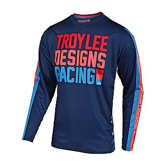 Troy Lee Designs Navy GP Air PreMix 86 Kids MX Jersey