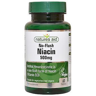 Nature's Aid Niacin (B3) 500mg (No Flush) Tablets 60