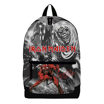 Iron Maiden Backpack Bag Number of the Beast Pocket Band Logo new Official Black