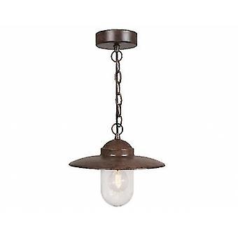 1 Light Outdoor Ceiling Pendant Light Rust