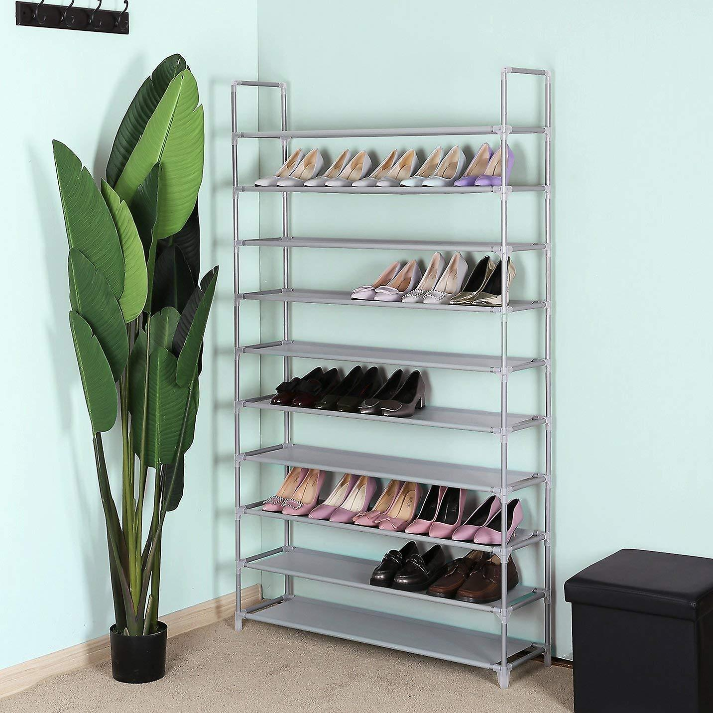 10-layer Shoe rack-metal/fabric