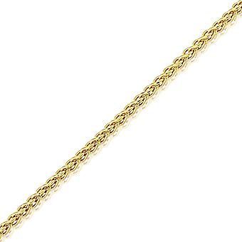 Jewelco London 18ct Yellow Gold Spiga Pendant Chain Necklace - 1.1mm Gauge
