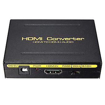 5.1ch 1080p hd to hd spdif rca l/r audio splitter extractor converter