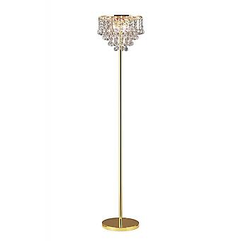 Diyas Atla Floor Lamp 4 Light French Gold/Crystal