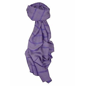 Mens Vietnamese Long Silk Scarf Hue Violet by Pashmina & Silk