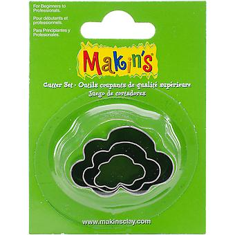 Makin's Clay Cutters 3/Pkg-Cloud M360-33