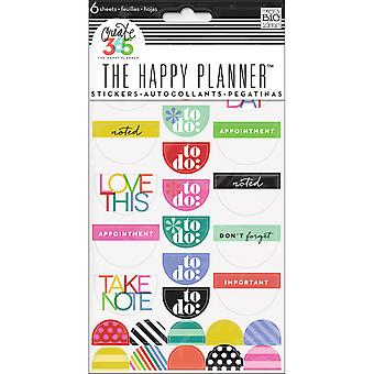 Create 365 Stickers 6 Sheets/Pkg-Good Day Brights PPS-51