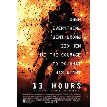 13 Hours The Secret Soldiers of Benghazi Movie Poster (11 x 17)
