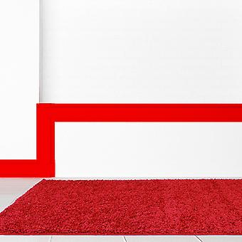 Retro Plain Shaggy Rugs In Red