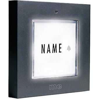 Bell panel backlit, with nameplate 1x m-e modern-electronics KTB-1 A Anthracite 12 V/1 A
