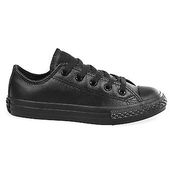 CONVERSE Chuck Taylor All Star Leder Ox Kinder Trainer - schwarz