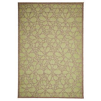 Marokkanske Fiore grøn geometriske Lounge tæppe - Floorit