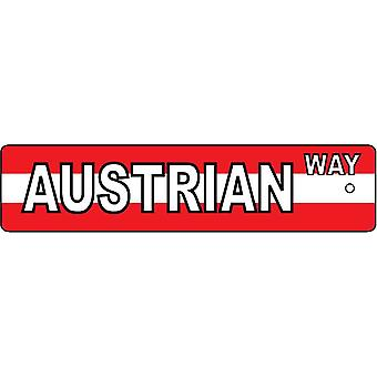 Austrian Way Street Sign Car Air Freshener