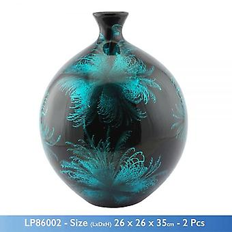 50CM STARBURST AQUA THEMED BLUE VASE
